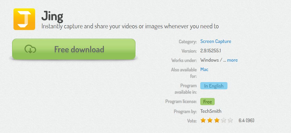 Jing Aplikasi Screenshot Gratis