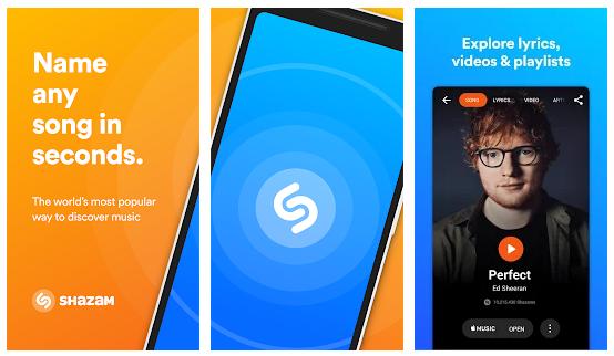 Shazam - aplikasi player musik online