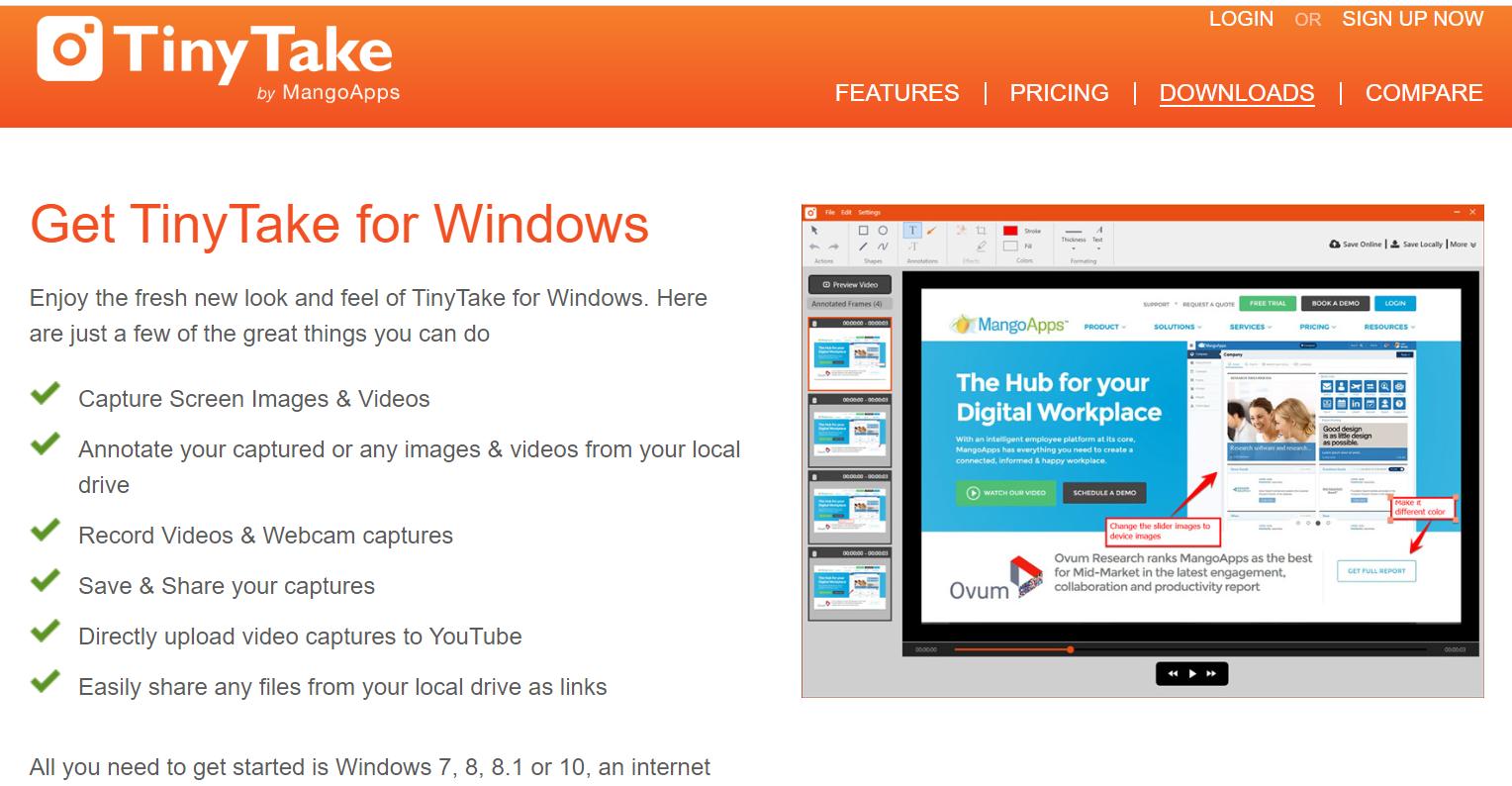 TinyTake Aplikasi terbaik untuk semua pengguna laptop