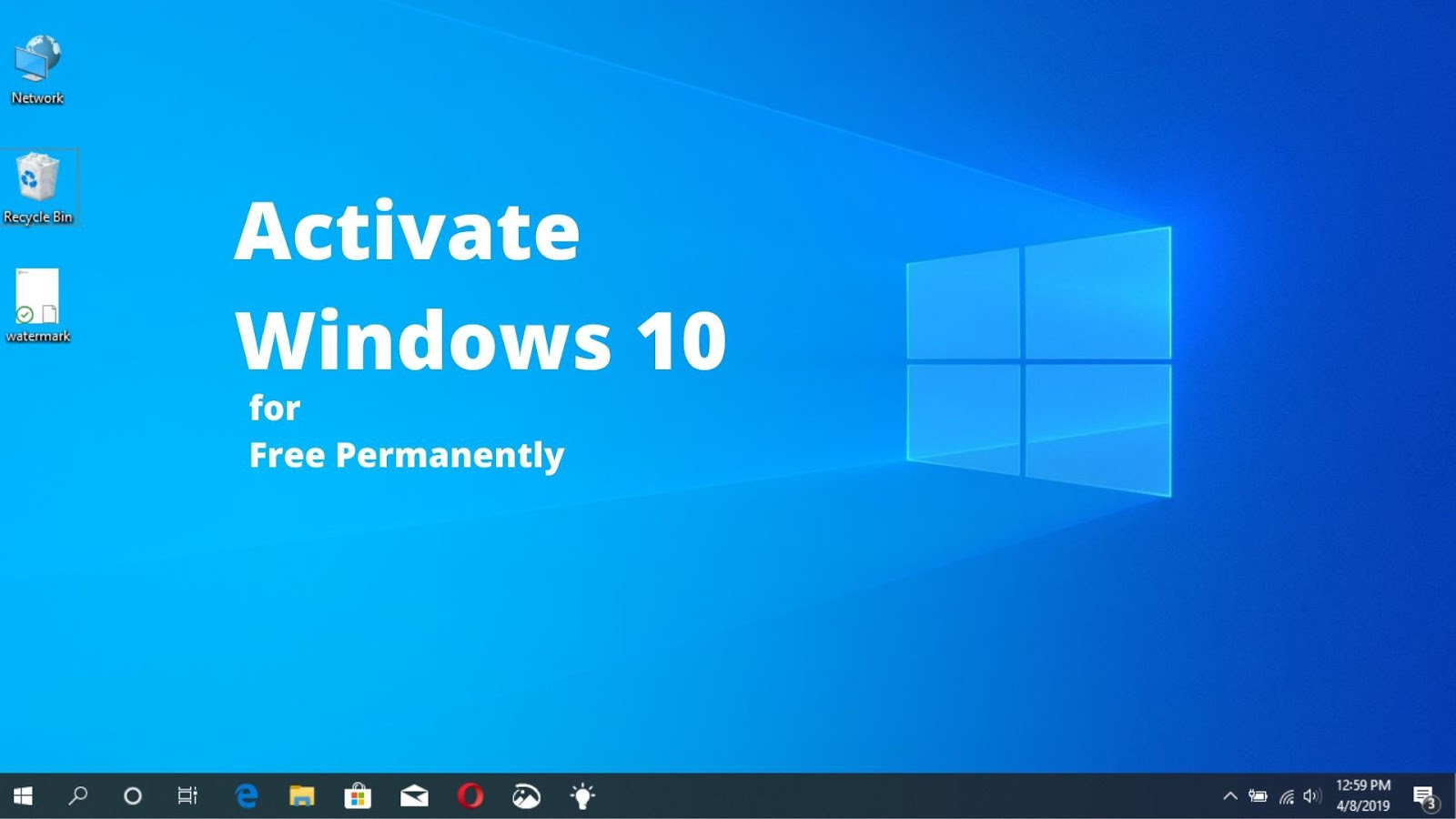 Menghilangkan Activate Windows 10